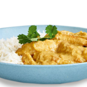 Chicken korma curry and rice